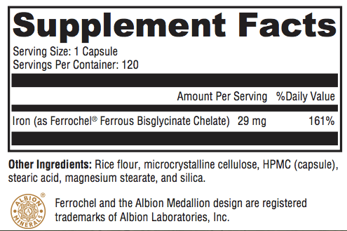 Iron LiFE Supplement Facts; Revolution Supplement