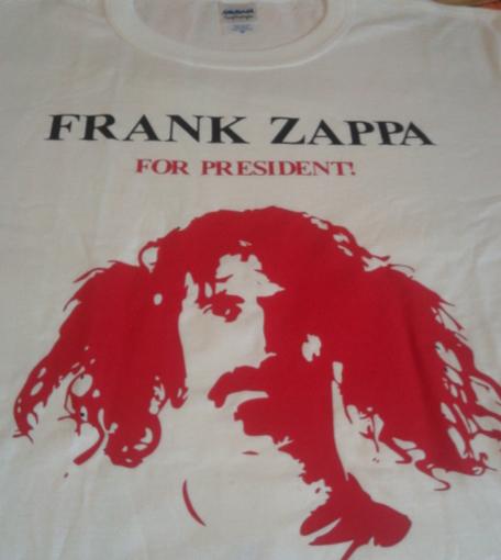 Frank Zappa for President: la t-shirt ufficiale