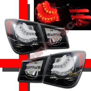 20112014 Chevy Cruze LT LS LTZ ECO Black LED Tail & Trunk