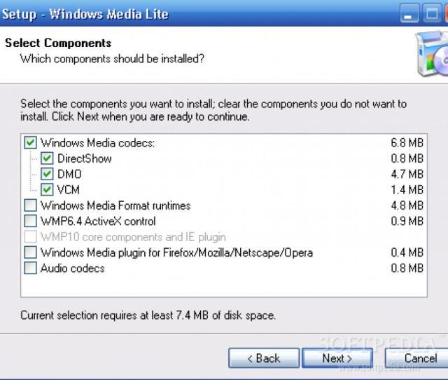 Windows Media Lite Main Screen