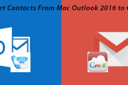 Export Contacts From Outlook For Mac 2016 to Gmail
