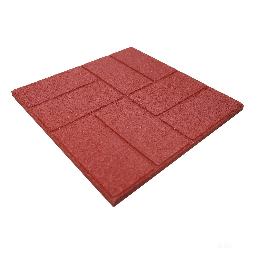 revtime dual side garden rubber paver 16 x16 for patio paver step stone and walk way safety rubber tile red pack of 6