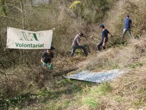 Les volontaires de Nouvelle Acropole Rouen se sont associés au Club alpiniste de Haute Normandie pour préserver les Roches de Connelles