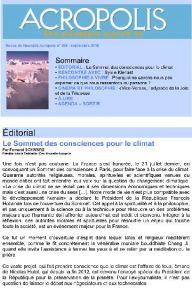 Première de couverture de la Revue Acropolis n°266