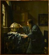 Vermeer donne un globe à son Astronome qui semble être Antoni van Leeuwenhoek,