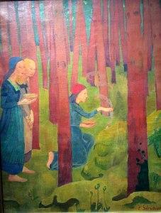 Le bois sacré est le lieu de la rencontre mystique avec le divin présent dans la nature et qui tel une cathédrale invite l'âme à l'élévation et la communion.