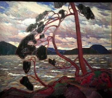 Le Vent de l'Ouest de Thomson, avec l'arbre solitaire, enraciné dans le roc et battu par les vents est une allégorie de l'esprit.