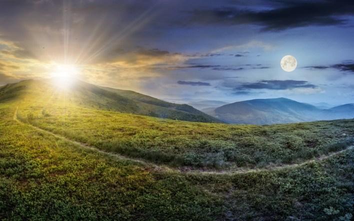 Jour et nuit, hiver et printemps se succèdent