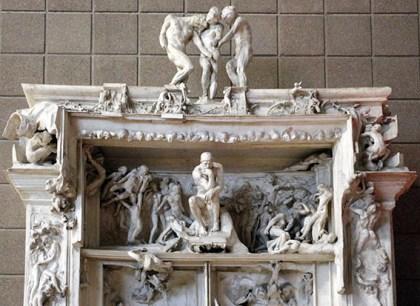"""L'oeuvre principale de la vie de Rodin sera La """"Porte de l'enfer"""", inspirée de la Divine Comédie."""