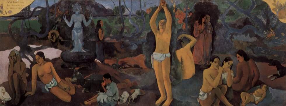 Gauguin cherche une terre paradisiaque où l'on pourrait revivre l'unité et l'harmonie entre les hommes et la nature.