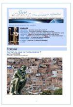 Première de couverture de la Revue Acropolis n°294