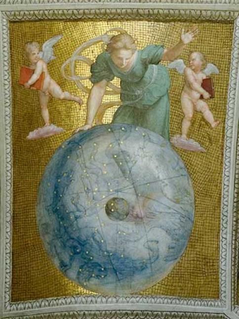 Uranie portant dans ses mains l'univers.