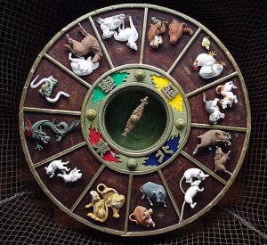 Dans la mythologie chinoise, le cochon est arrivé le dernier des douze animaux du cycle.