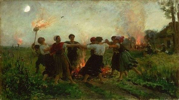 Les flammes et le feu, associés au soleil qui brûle d'un feu puissant et vital, font partie intégrante des célébrations de la Saint-Jean et de l'été
