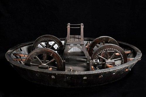 310.Léonard de Vinci.Maquette char armé.Museo_scienza_tecnologia_Milano
