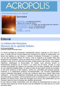 Revue Acropolis n°243