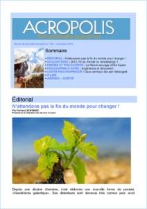 Première de couverture de la Revue Acropolis n°236