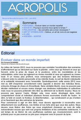 Revue Acropolis n°231
