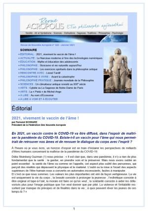 Revue Acropolis n°325