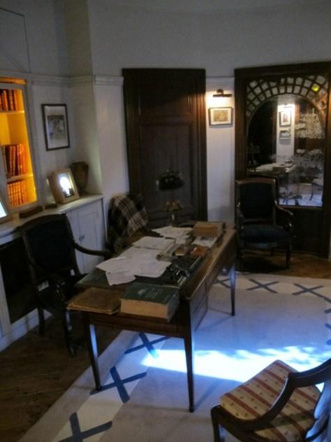 Photographie du bureau de Maurice Leblanc, août 2013, © Justine Delassus.