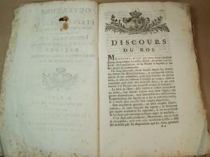 Discours d'ouverture des États Généraux prononcé par Louis XVI le 5 mai 1789