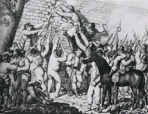 La prise de Thouars, Henri de La Rochejaquelein escaladant la muraille