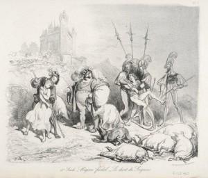 XVème Siècle – Régime féodal – Le droit du seigneur (Estampe)