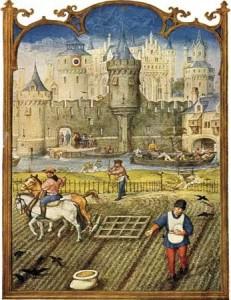 Illustration de la féodalité, mode de fonctionnement caractéristique de la société médiévale