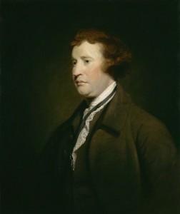 Edmund Burke (1729-1797) contre-révolutionnaire de la première heure, il dénoncera ardemment la volonté française consistant à imposer des droits universels qui d'après lui ne le sont pas.
