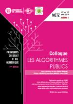 Les algorithmes publics