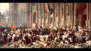 Proclamation de la IIe République sur les marches de l'Hôtel de Ville de Paris