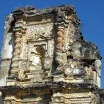 Elaborate detail and spiral columns of Church of Candelaria