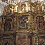 Baroque altar inside La Merced Church, Guatemala City
