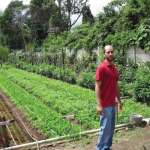 Kronick with some of his latest crops at Caoba Farms