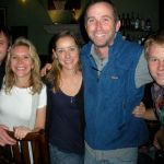 Zac, Sue from New York, Kate & Billy Burns (co-owner), and Ben, a regula