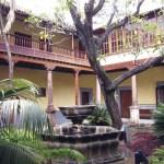 Courtyard of municipal building in San Cristóbal de La Laguna, Tenerife, resembles colonial structures in La Antigua Guatemala.