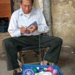 Salvador crochets a new morral and shows