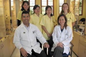 Drs. José and Dalia de Golcher and staff
