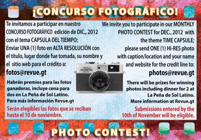 REVUE's December 2012 Photo Contest: Guatemalan Time Capsule