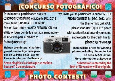 REVUE's December 2012 Photo Contest: Guatemalan Time Capsule