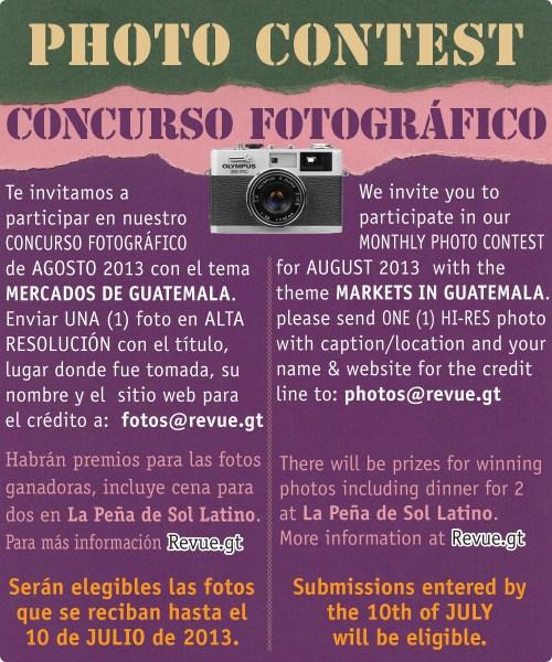 REVUE's August 2013 Photo Contest: Markets in Guatemala