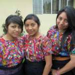 Guatemalan girl leaders in Concepción Chiquirichapa. (Lorena Gómez-Barris, Agali Staff)