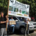 Participants in January's public demonstration for animal rights