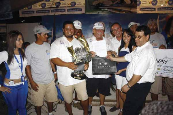 Winners of fishing in Honduras