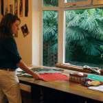 Leslie Nanne at work in her studio