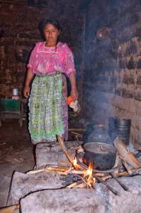 Inhaling the toxic fumes while preparing tortillas and frijoles puts rural Guatemalans at risk of blindness or respiratory diseases on a daily basis