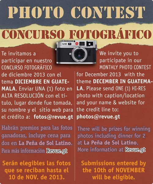REVUE's December 2013 Photo Contest: December in Guatemala
