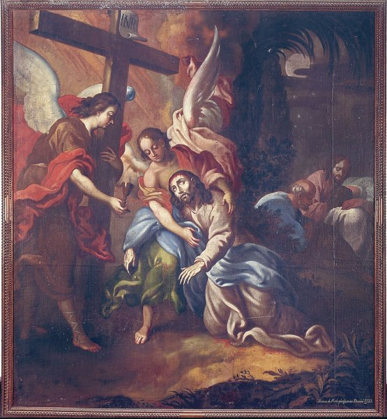 "One of the paintings that was stolen: ""La oración en el Huerto"" by Tomás de Merlo, 1737 (photo courtesy of miguel f. torres)"
