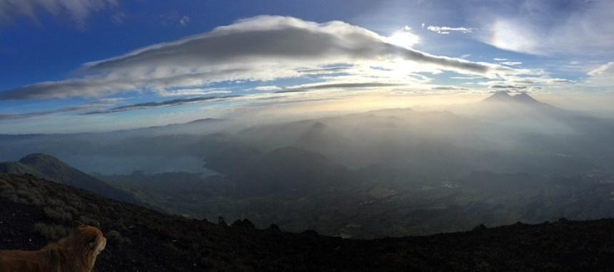 """2nd Place: """"Caminando con Skokie por las Nubes"""" Cima del Volcán Atitlán, Sololá, by Lencho (Julio Florencio Meléndez Monterroso) Prize: Q100"""