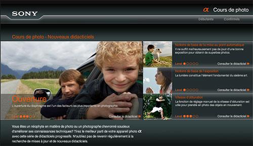 Le site d'apprentissage de la photo, par Sony